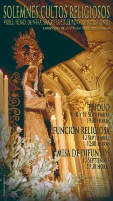La V. H. de la Soledad (vulgo del Puente) celebra sus Cultos y recupera los actos aplazados por la pandemia