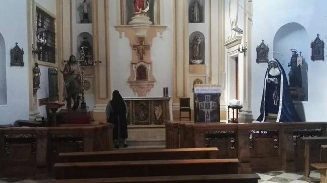 Todo preparado para la misa que la Borriquilla celebra este miércoles a sus Sagradas Imágenes en las Concepcionistas
