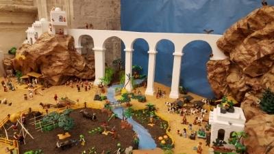 Una campaña contra el cáncer infantil en el Belén de Playmobil del Resucitado de Cuenca
