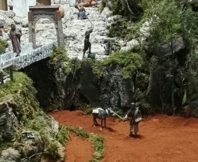 La Borriquilla se une a la Ruta de los Belenes con un belén tradicional conquense