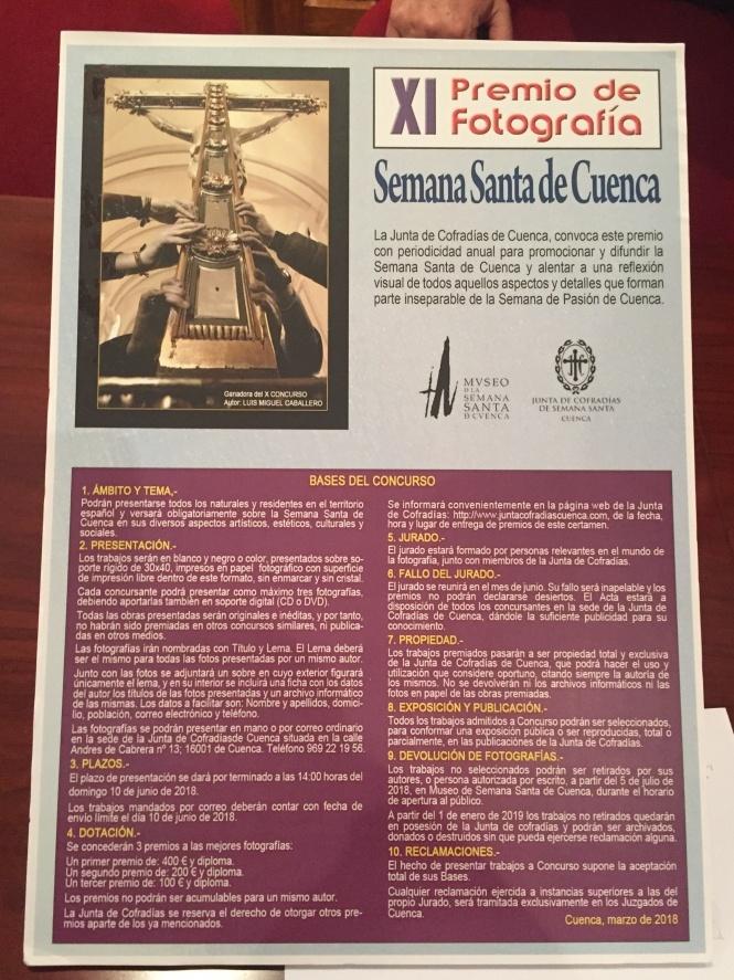 """En marcha la XI edición del Premio de Fotografía """"Semana Santa de Cuenca"""" convocado por la JdC"""