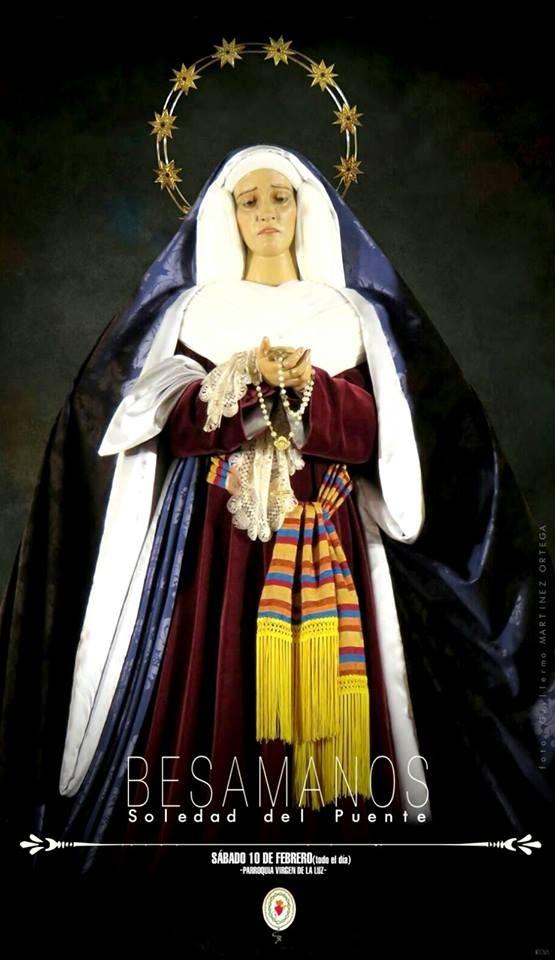 La V. H. de Ntra. Sra. de la Soledad del Puente celebra el 10 de febrero un Besamanos a su Titular que tendrá carácter anual
