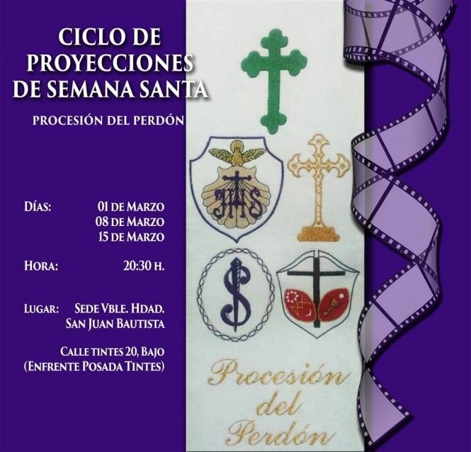 El jueves arranca una nueva edición del Ciclo de Proyecciones de Semana Santa organizado por las hermandades del Perdón