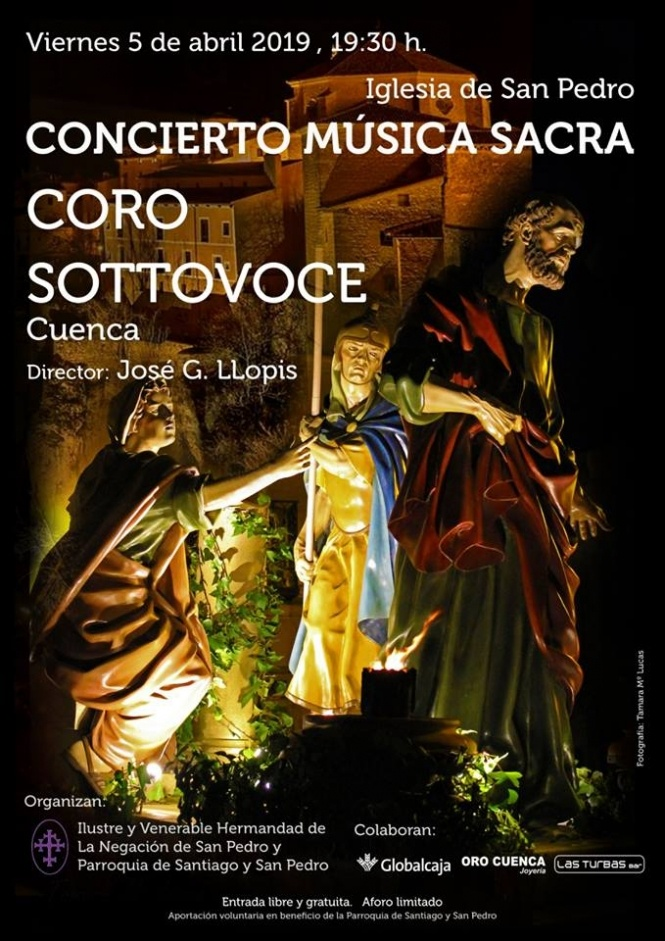 La I. V. H. de La Negación de San Pedro organiza el próximo 5 de abril un concierto benéfico de Música Sacra en San Pedro