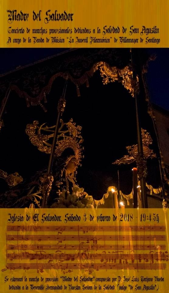 La Soledad de San Agustín celebra este sábado Misa y concierto a cargo de la Juvenil Filarmónica de Villamayor, con estreno de una nueva marcha