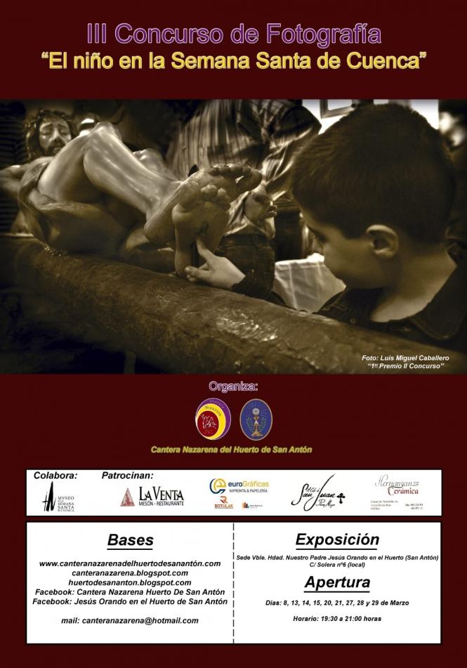 """La Cantera Nazarena convoca la III edición del Premio de Fotografía """"El niño en la Semana Santa de Cuenca"""""""