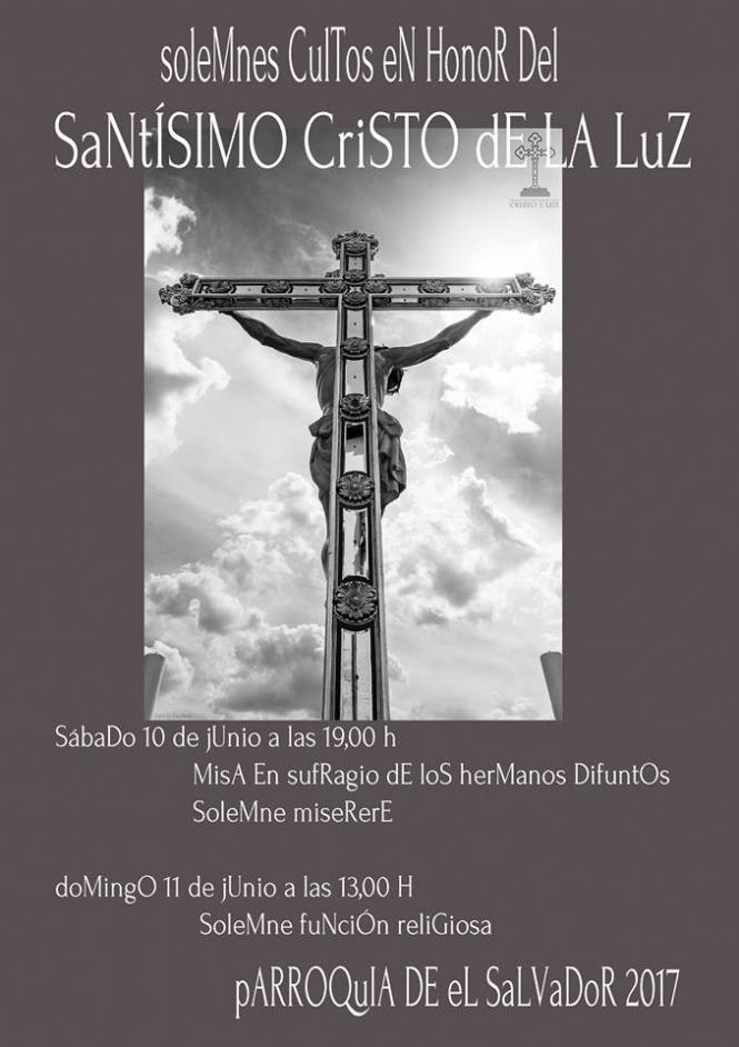 La V. H. del Santísimo Cristo de la Luz celebra este fin de semana los Cultos a su Titular