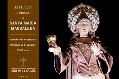 La V. H. del Sant�simo Cristo de la Luz celebra el viernes su Funci�n en honor a Mar�a Magdalena