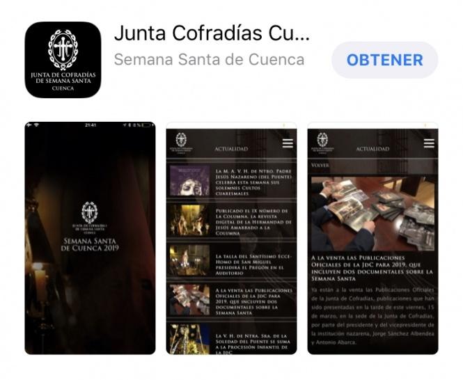 Disponible para iOS y Android la app móvil actualizada de la Junta de Cofradías para esta Semana Santa