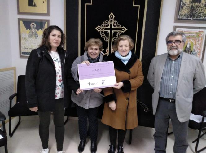 La Soledad de San Agustín entrega a la AECC Cuenca la recaudación de su Concierto Benéfico de Navidad