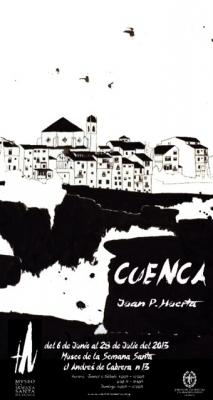 Juan Pedro Huerta expone en el Museo de Semana Santa 17 visiones de Cuenca en tinta china, madera y hierro