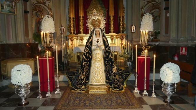 La V. H. de Ntra. Sra. de la Soledad del Puente celebra el  22 de febrero el Devoto Besamanos pre cuaresmal a su Titular