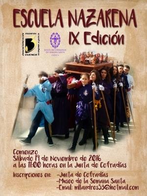 El sábado comienza la IX edición de la Escuela Nazarena