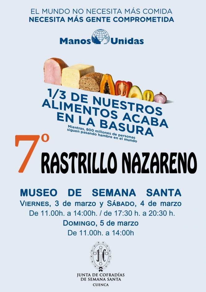 La JdC y Manos Unidas organizan la VII Edición del Rastrillo Nazareno