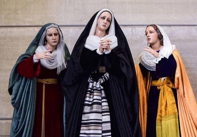 Hoy, festividad de Ntra. Sra. de los Dolores, se bendice el paso procesional de las Santas Marías