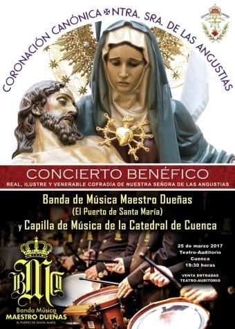 La R. I. V. Cofradía de Ntra. Sra. de las Angustias celebra el 25 de marzo Concierto Benéfico por la Coronación de la Virgen