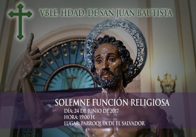 La V. H. del Bautista celebra en clave solidaria los Cultos con motivo de la festividad de su Titular