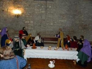La V. H. de la Santa Cena de Cuenca, madrina del nuevo paso de la Sagrada Cena de Mota del Cuervo