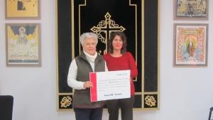 La V. H. de la Soledad (de San Agustín) entrega a Manos Unidas la recaudación de su Concierto Benéfico