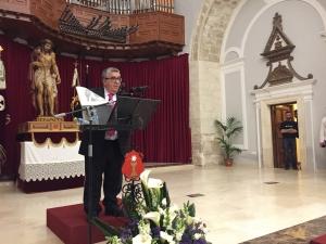 José Vicente Ávila ofrece un Pregón lleno de periodismo, historia de la Semana Santa, vivencias y sentimiento nazareno