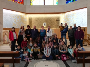 Los niños y niñas de la Escuela Nazarena de Cuenca conocen la Semana Santa de Tarancón
